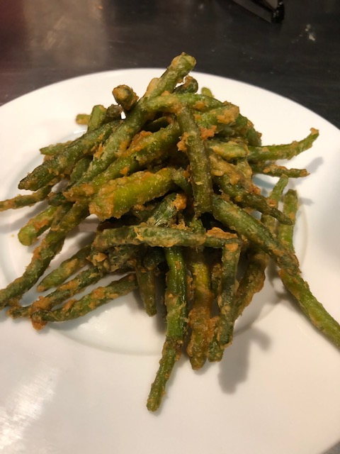 Haricots-en-tempura