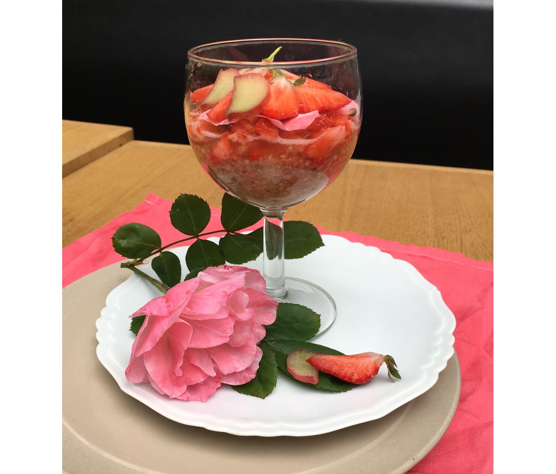 Entre rhubarbe et fraises