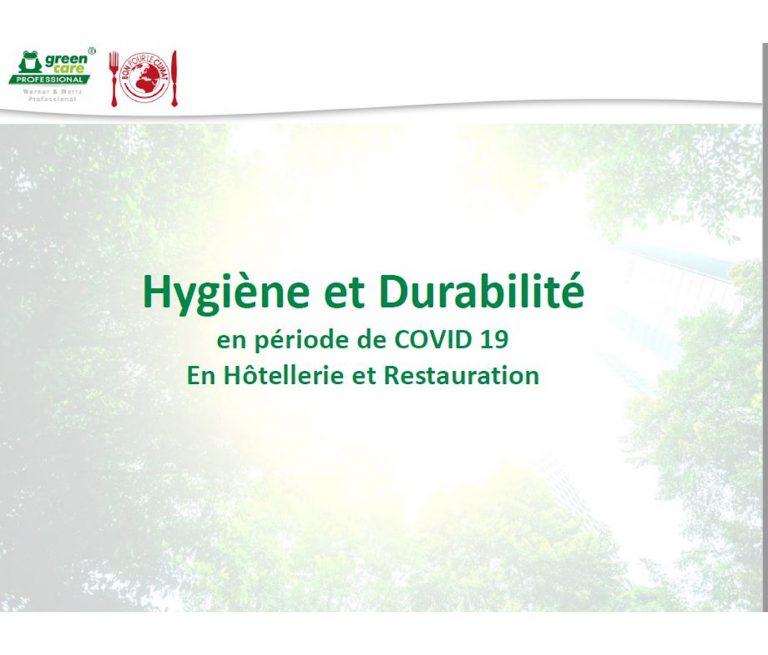 Webinar hygiène et durabilité en période Covid
